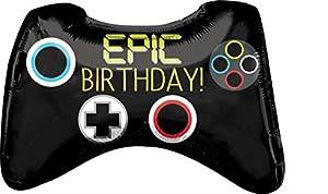 amscan 3780401 Epic Party Game Controller - Globo de plástico para Fiestas, Multicolor