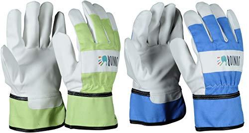 OX-ON Kids Junior Kinderhandschuhe Gartenhandschuhe Arbeitshandschuhe für Kinder (8-10 Jahre, Grün)