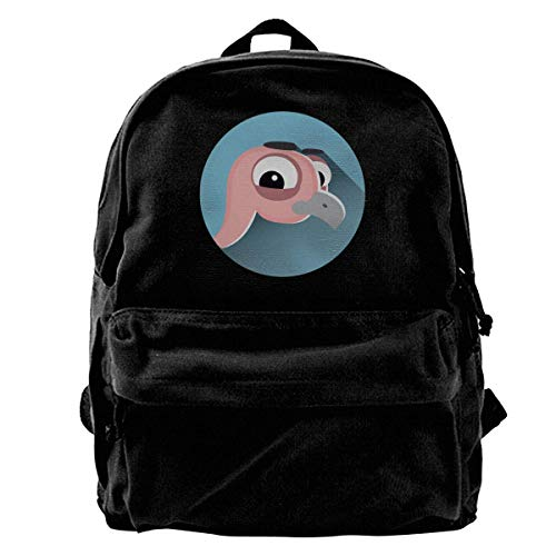 Rucksäcke, Daypacks,Taschen, Classic Canvas Backpack Ostrich Head Unique Print Style,Fits 14 Inch Laptop,Durable,Black Ostrich Leder Tasche