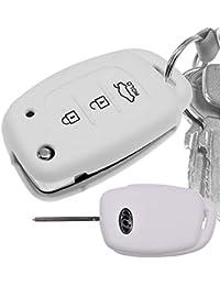 Key Soft Case Cover Funda para Cubiertas de Coche Funda Protectora de  Silicona Blanca Hyundai i10 503e2fd7d3c