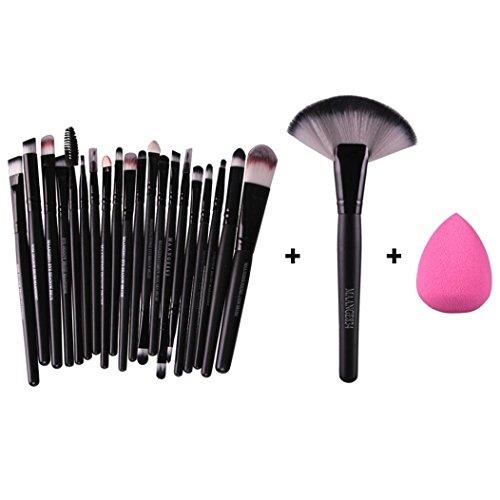 kingko® 22pcs / set de maquillage Fondation pinceau de maquillage sourcils cils yeux joues Brush + Maquillage éponge