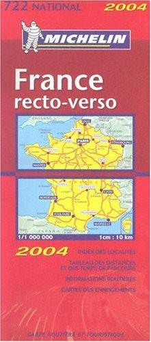 Carte routière : France recto/verso, N°11722 par Cartes NATIONAL Michelin