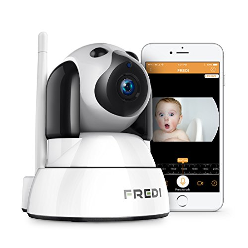 720P HD Wlan Wifi IP Kamera Sicherheitskamera Überwachungskamera Hund IP Cam Drathlos P2P Pantilt Bewegungsmelder 2 Weg Audio IR Nachtsicht für Baby Überwachung(hund)
