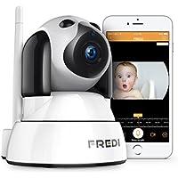 FREDI 720P HD Wlan Wifi IP Kamera Sicherheitskamera Überwachungskamera Hund IP Cam Drathlos P2P Pantilt Bewegungsmelder 2 Weg Audio IR Nachtsicht für Baby Überwachung