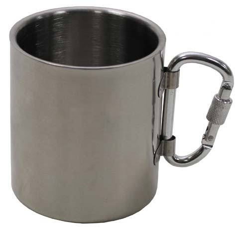 mug, isotherm, a double paroi, mousqueton, 300 ml
