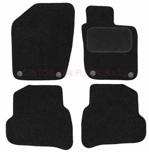 Preisvergleich Produktbild Autoteppich Online ag4410poly Tailored Auto Fußmatten Schwarz
