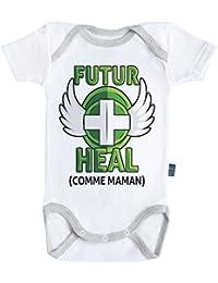 Baby Geek Futur Heal comme Maman (Version Garçon) - Body Bébé Manches  Courtes - 9a5d2385e98