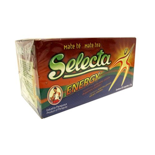 Yerba mate Selecta Energy bolsas de té con guaraná