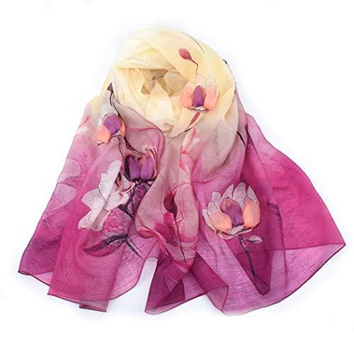 Dreidimensionale Blume Maulbeere Seiden Wolle Stickerei Spray Schal Schal,Rose -