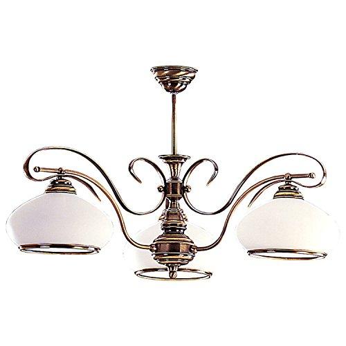 Deckenlampe Wohnzimmer Beleuchtung echtes Messing E27 Jugendstil filigran Esszimmer Leuchte