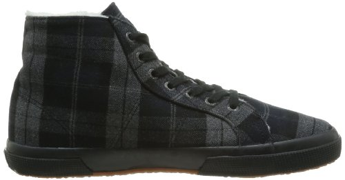 SUPERGA 2095 Tweedbinu, Unisex - Erwachsene Sneaker Grau - Gris (Grey/Black)