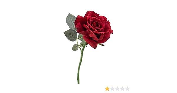 takestop Rose Artificielle Velours h 30/cm Roses Rouges Fushia Faux Branche Fleurs artificielles Multicolores d/écorations Composition Floral Mariage F/ête Maison San Valentino
