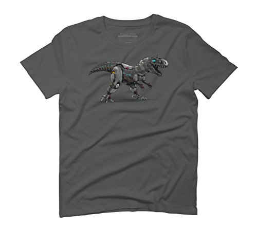 Mechanical Rex Men's Graphic T-Shirt - Design By Humans Anthracite