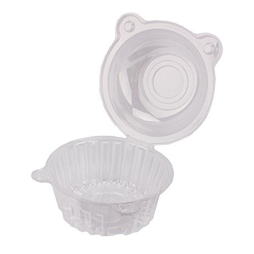 100pcs Trasparente Contenitore per Torta usa e getta plastica trasparente box mini Cat Head cupcake box scatole per Cupcake muffin 112 * 80
