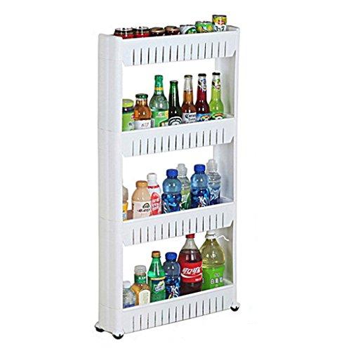 &étagère de rangement Creative Dossier Rack de stockage Cuisine amovible Réfrigérateur Side Debris Storage Rack Panier de stockage Rack de finition (Color : 4 layers)