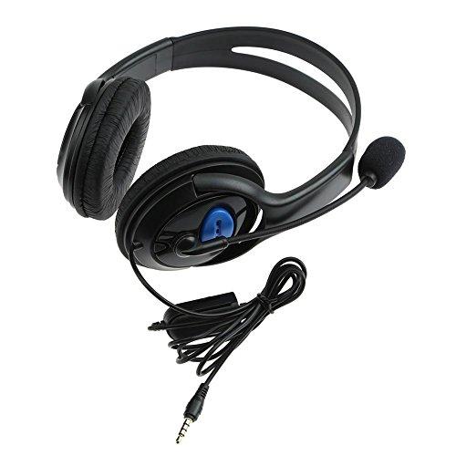 Demiawaking Cuffie da Gioco Stereo Super Bass Wired Cuffie con Microfono per Sony Playstation 4