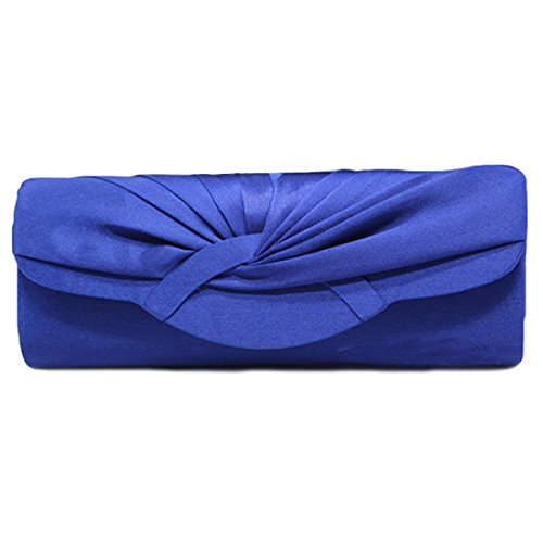 YYW Pleated Clutch Bag, Poschette giorno donna Royal Blue