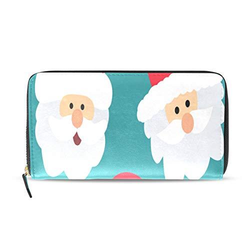 Riesen Weihnachten Santa Neujahr lange Pass Kupplung Geldbörsen Reißverschluss Brieftasche Fall Handtasche Geld Veranstalter Tasche Kreditkarteninhaber für Dame Frauen Mädchen Männer Reisen Geschenk