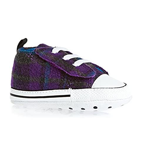 CONVERSE CHUCK TAYLOR EASY SLIP Girls Infant Baby Crib Trainer Soft Sole Shoes (2 UK)