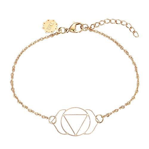 Tara Armband Ajnya-Stirnchakra Edelstahl antiallergen Yoga Yogaschmuck Chakra Hinduismus Farbe Rosegold