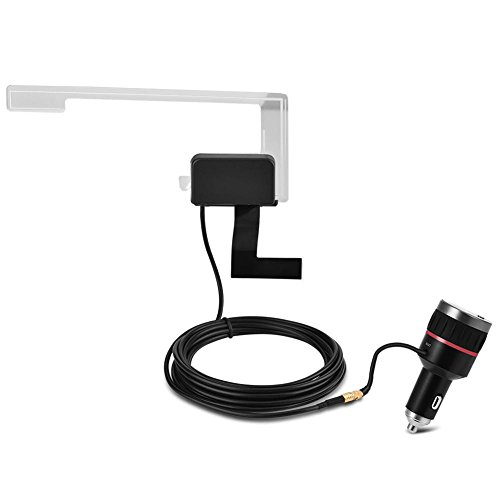 Zerone Auto DAB/DAB + -Autoradioempfänger, USB 2.0 Digital Audio Broadcast-Empfänger FM Transmitter USB-Ladegerät mit Antenne für Autoradios