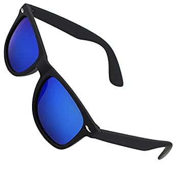 CGID MJ40 Lunettes de soleil Wayfarer polarisées - Verres Chat noir 4 offrant une protection UV400 complète - Disponibles en 4 couleurs - Complétées d'un chiffon nettoyant et d'un étui étanche - Idéales pour conduire - Unisexes