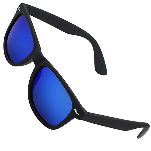 CGID Polarised Wayfarer Sunglasses - Black Cat 4 Lenses Offering Full UV400 Protection - Available in 6 Colours - Complete with Cleaning Cloth & Waterproof Pouch - Ideal For Driving - Unisex,Ice Blue