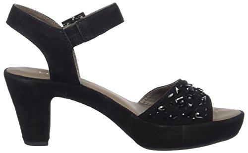 Gabor Shoes Fashion, Sandales Bout Ouvert Femme Noir (schwarz Strass)