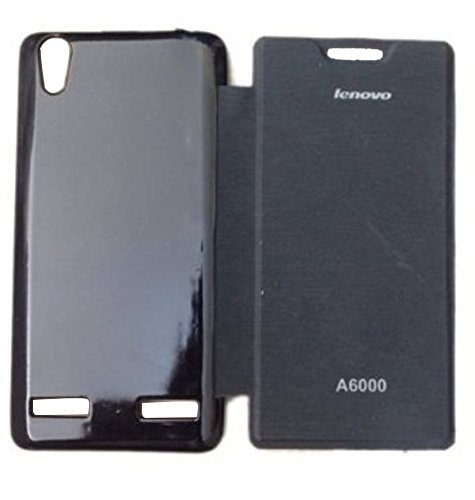 XRIS Original flip cover / Case for Lenovo A6000 - Black  available at amazon for Rs.145