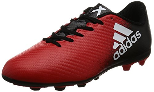 adidas X 16.4 Flexible Ground, pour les Chaussures de Formation de Football Mixte Enfant Multicolore (Red/Ftwr White/Core Black)