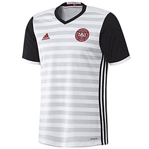 adidas Kinder Dänemark Auswärtstrikot Replica, weiß/schwarz, 140, A99913 (Weiß Fußball Kinder Jersey)