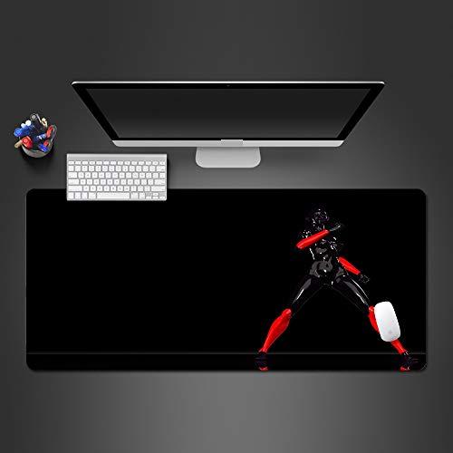 Mauspad Krieger Mauspad Persönlichkeit Design rutschfeste Mauspad Computer-Mauspad für Gamer 900x300x2
