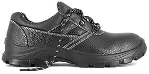Foxter - Chaussures de sécurité   Mixte : Hommes et Femmes   Basses   Respirantes   Imperméable   Cuir Noir   S3 SRC
