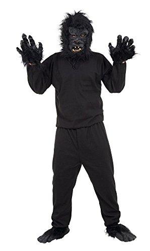 Bristol Novelties AC134 Gorilla Kostüm, Schwarz, Einheitsgröße