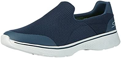Skechers Men's Go Walk 4 Low-Top Sneakers, Blue (nvgy), 6 UK 39 1/2 EU