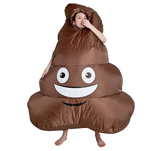 ADATEN Parodie lustig aufblasbares Kostüm Hocker Poop Turd Kostüm Party Karneval Cosplay Blow Up Requisiten Dekoration Perfekt für Halloween Weihnachten Karneval Bar Erwachsene (Fett Blow Up Kostüm)