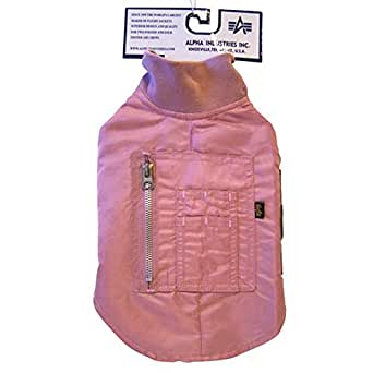 """Animate Ma1 Flight Jacket Dog Coat Pink 20""""-18"""""""