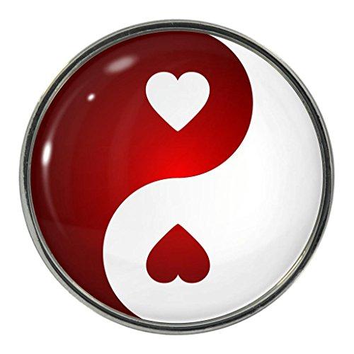 Love Herz Yin Yang Metall Magnet Kühlschrankmagnet