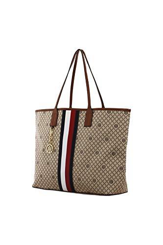 Tommy Hilfiger Damen Tasche, Signature Handbag, Shopper Tote, Size: 46 x 37 x11cm -