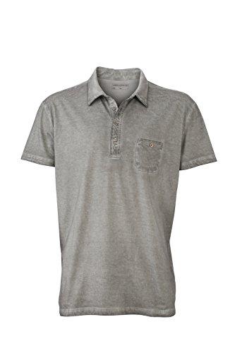 JN988 Mens Gipsy Polo Herren Poloshirt Polohemd James & Nicholson Grey