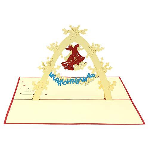 m Hochzeitstag, Weihnachtsglocke, für Anlässe wie Weihnachtskarten, Grußkarten, Glückwunschkarten, Neujahr des Mondes ()