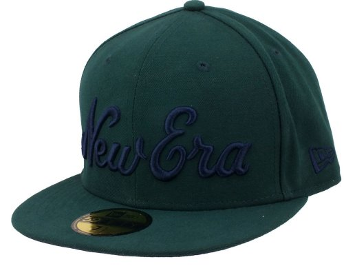 New Era Basecap Script 59fifty 2 Dark Green / Navy - 6 7/8 - 55cm