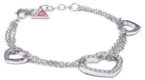Guess - UBB81004 - Bracelet Femme - Coeur - Métal argenté - 20 cm