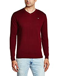 Lee Mens Cotton Sweater (8907222304140_LESW1788_X-Large_Wine)