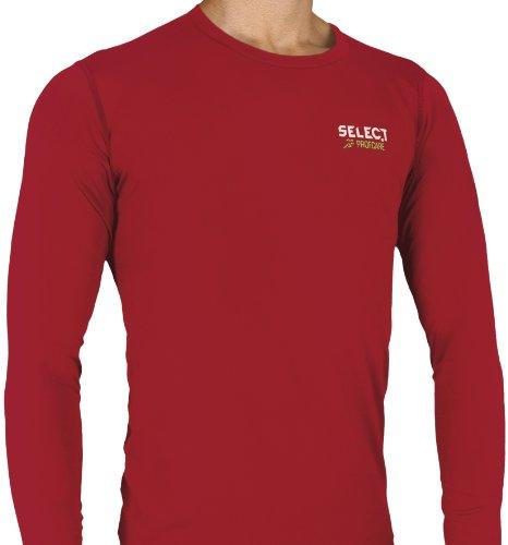 Select Biancheria intima a compressione Maglietta di compressione con maniche lunghe Rosso (Rot)