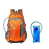 LISAWEI Zaino da Ciclismo Alpinista Spalle Pieghevole Sacca d'Acqua Maschi Ms. All'aperto Viaggio A Piedi Campeggio Grande capacità Zaino (Color : Orange)