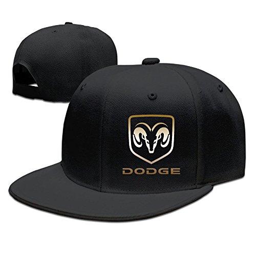 dodge-logo-adjustablefitted-unisex-flat-baseball-cap