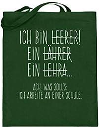 Shirtee Perfekt für alle Lehrer! - Jutebeutel (mit langen Henkeln)