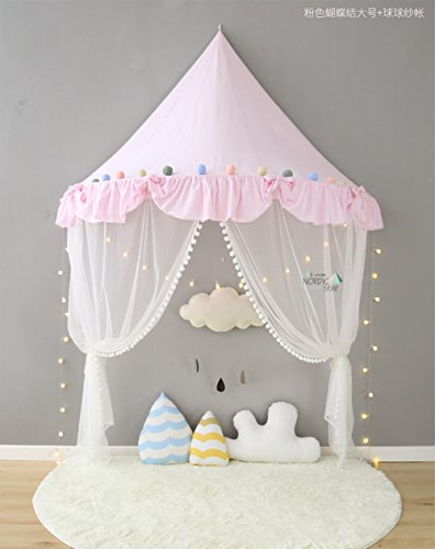 Here&There Kinder Zelte Spielzelt für Mädchen Kind Zelt Spielplatz Prinzessin Schloss Baby Zelte (Pink, groß)