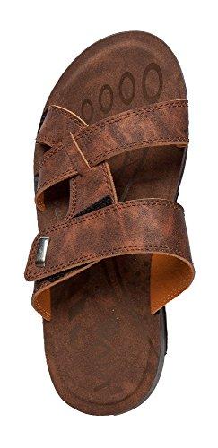 Herren Sandale mit Klettverschluß in 3 Farben und 6 Größen Braun